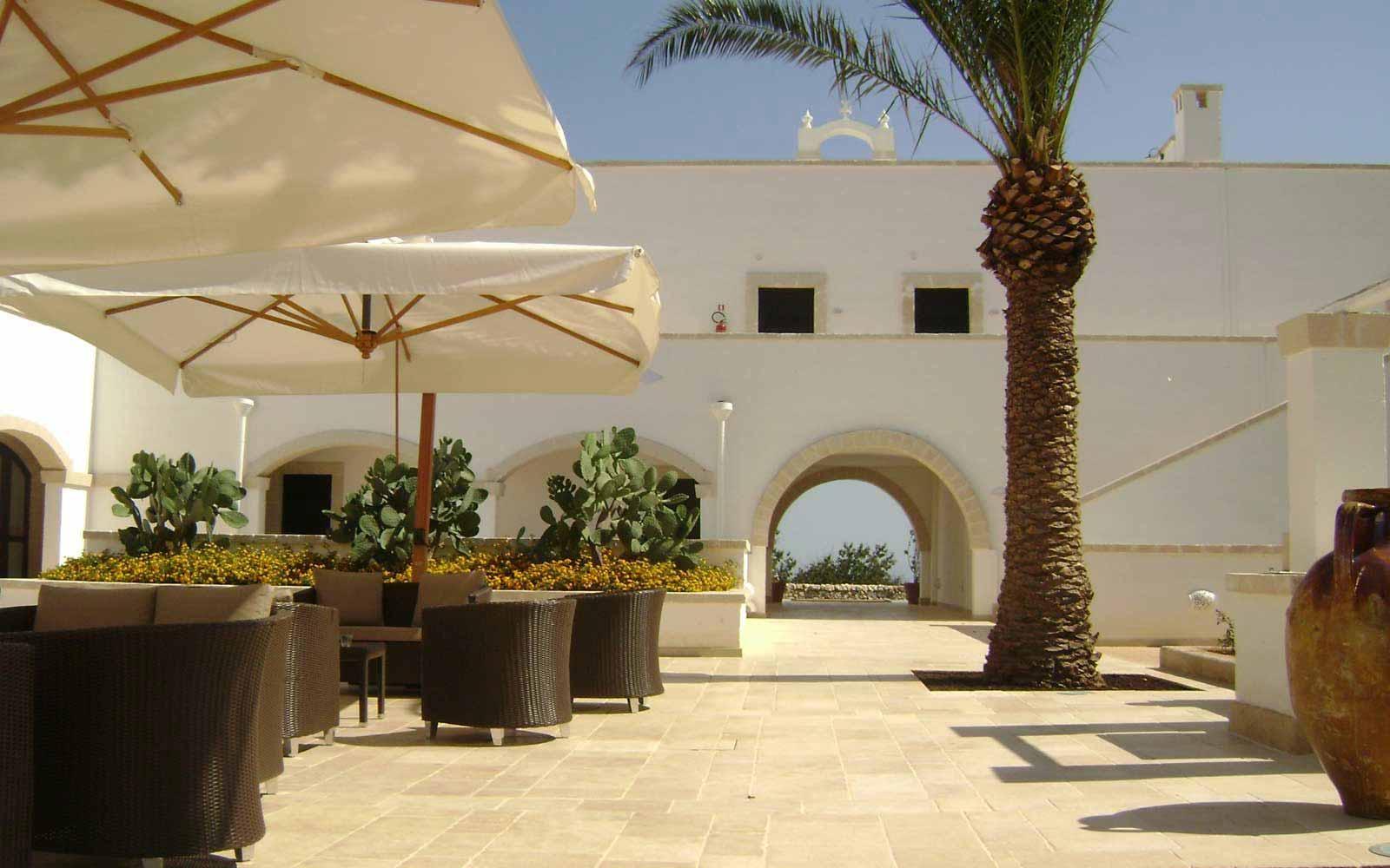 Sunny terrace at Borgobianco Resort & Spa