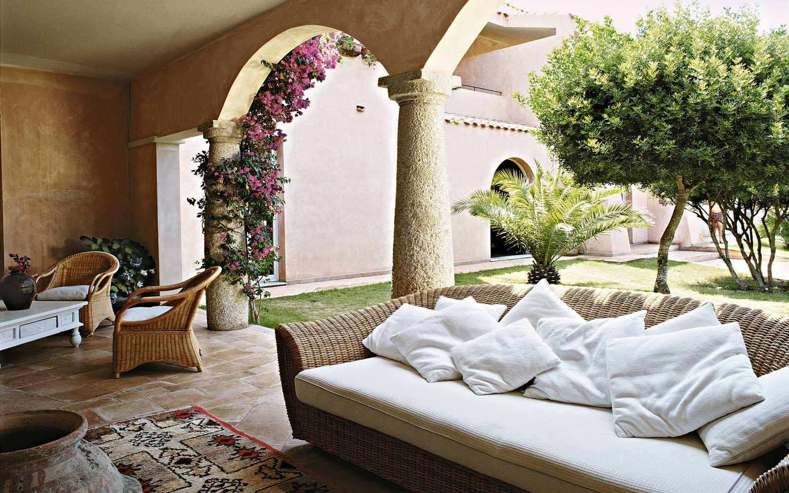 Relax area at Hotel Cala Caterina