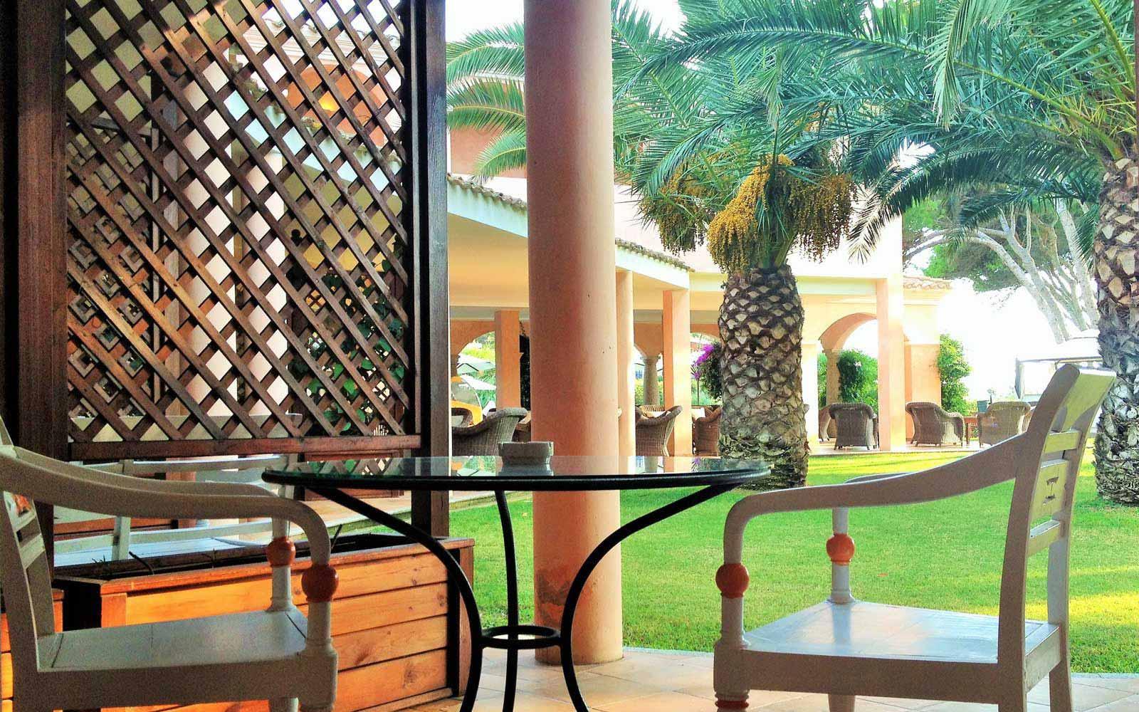 Junior Suite patio at Hotel Cala Caterina