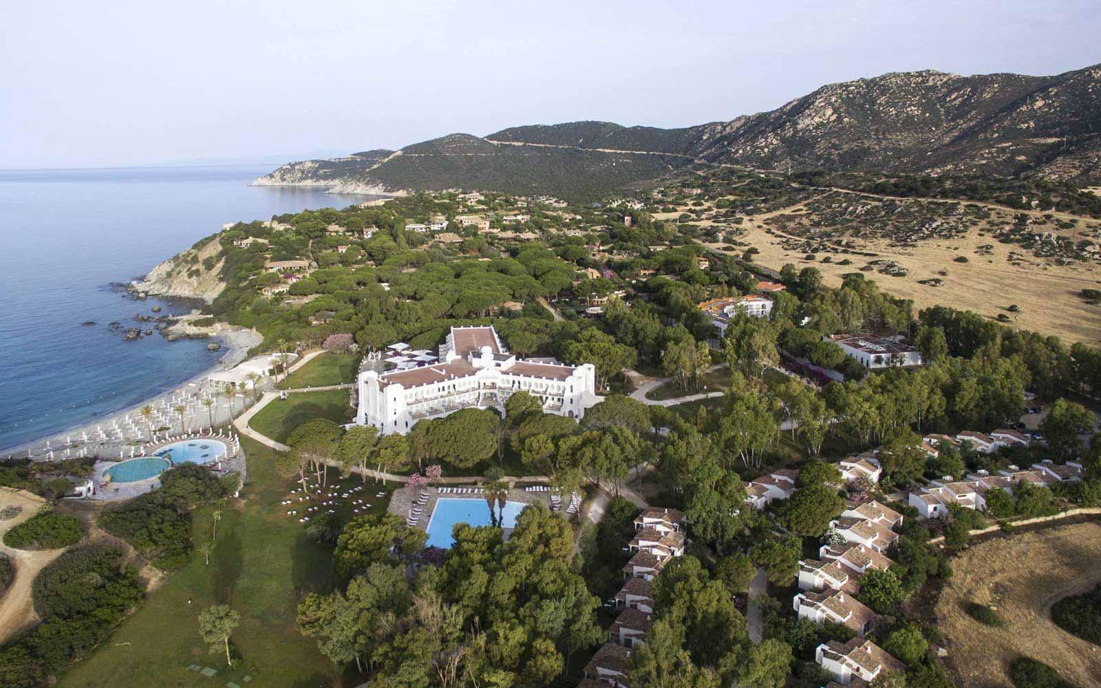 Aerial view at Capo Boi Resort