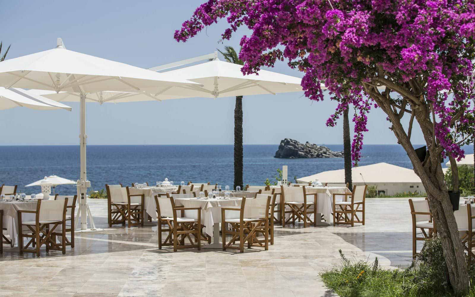 Sea view bar at Falkensteiner Resort Capo Boi