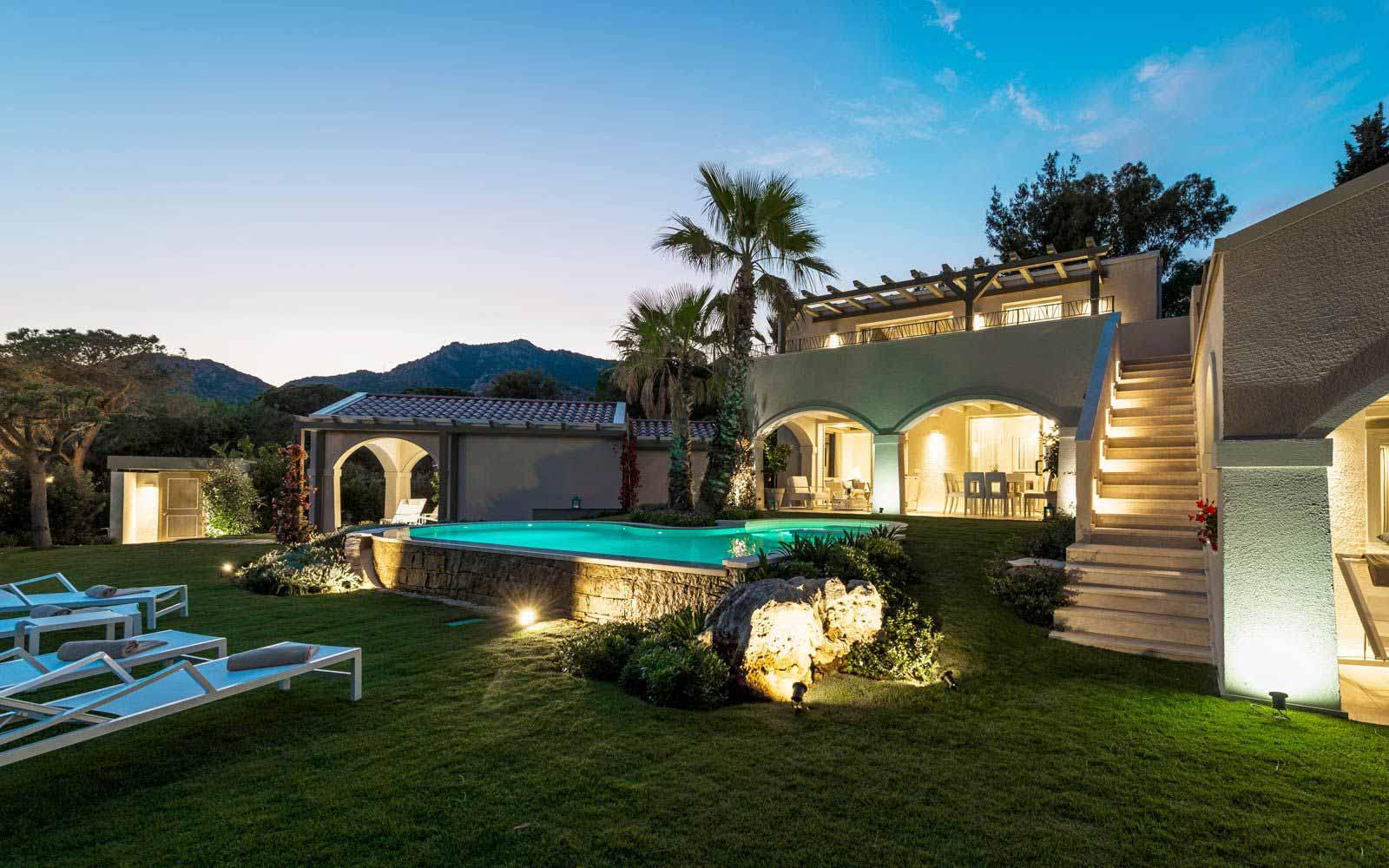Villa Sodia by night at Forte Village Resort