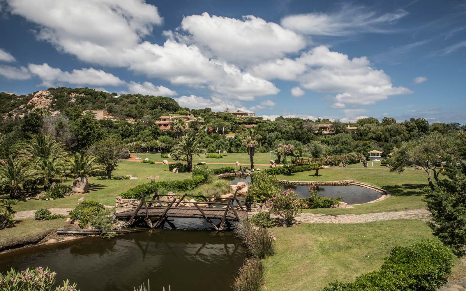 Gardens and Lake at Le Palme