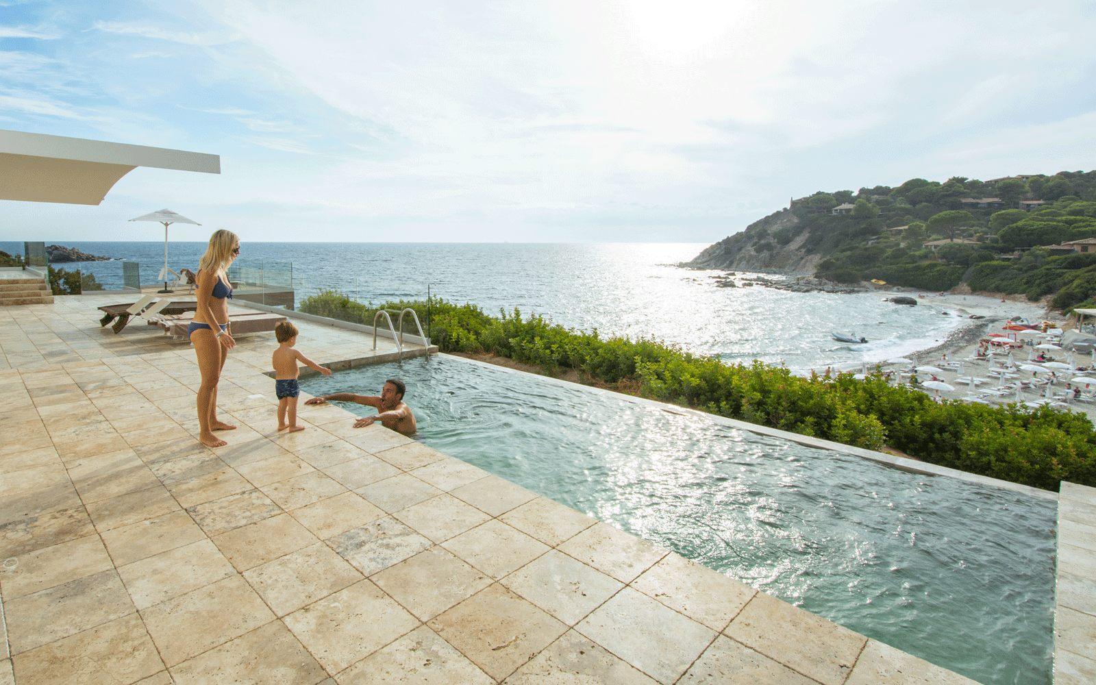 Villa Bellavista Private Pool at Capo Boi Resort