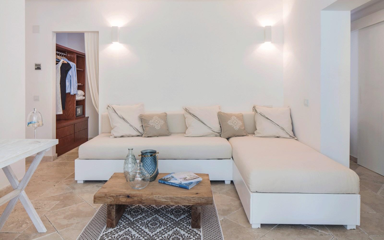Family Villa Living Room at Capo Boi Resort