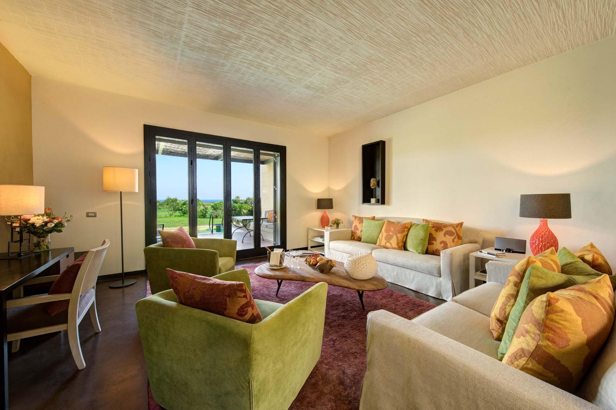 Living Room at Villa Iris