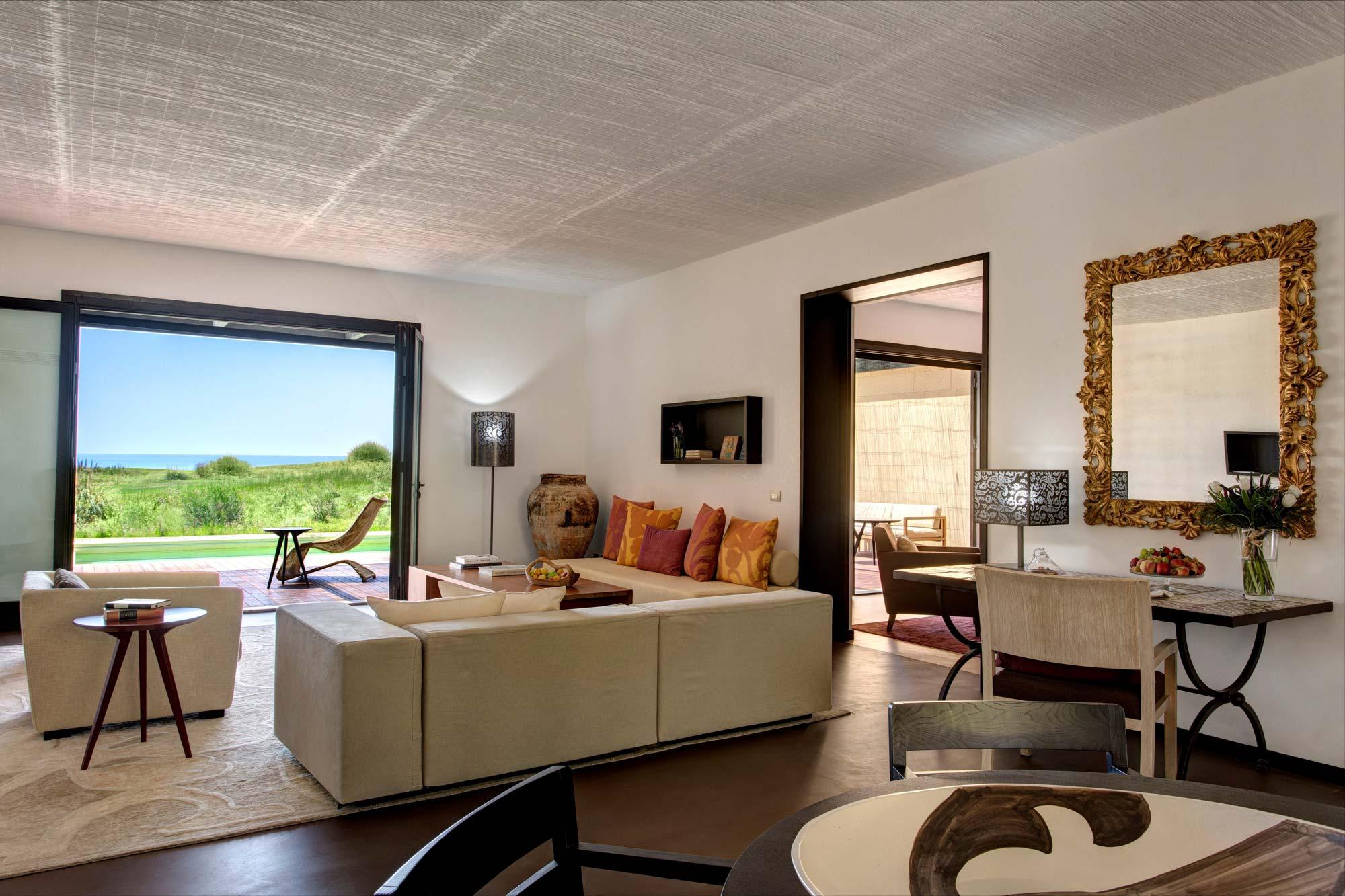 Living Room at Villa Peonia