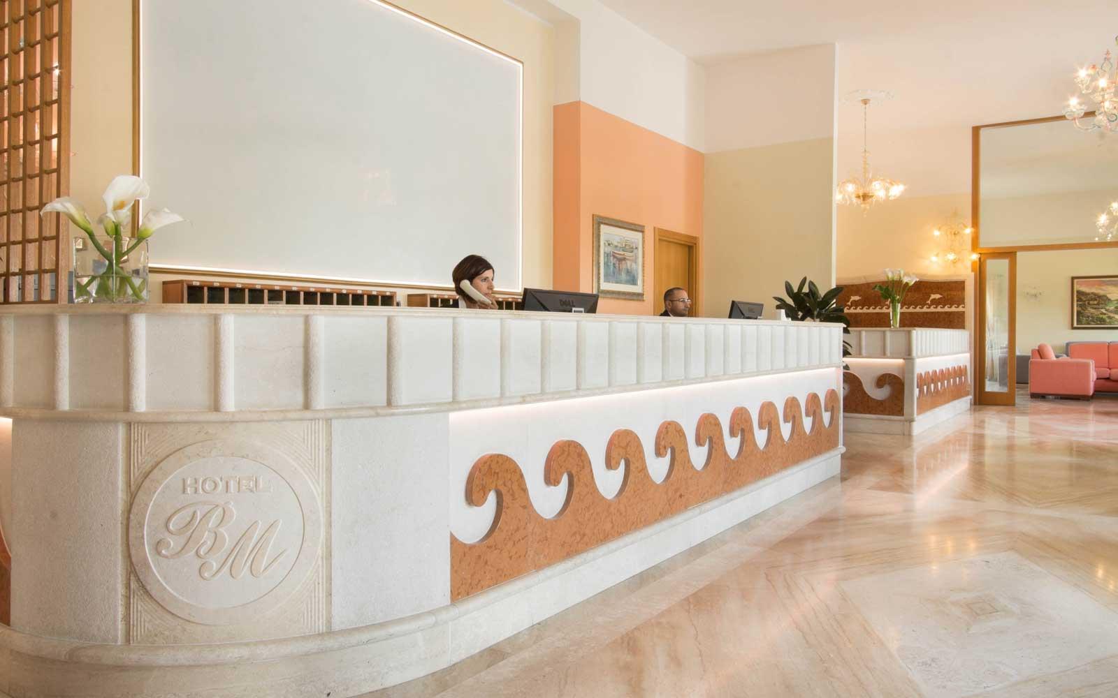 Reception at Hotel Brancamaria