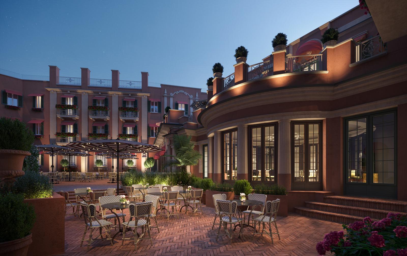 Hotel del la Ville Courtyard