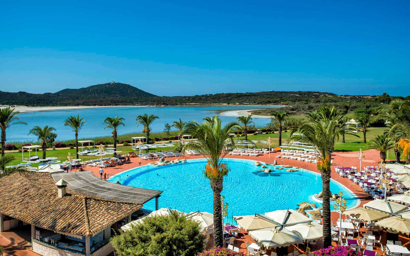 Pool and panoramic view at the Pullman Timi Ama Sardegna